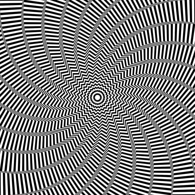 Illusion du mouvement de rotation Fond abstrait d'art op illustration de vecteur