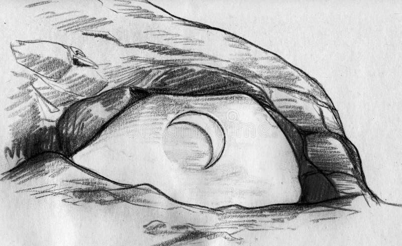 Illusion of an eye vector illustration