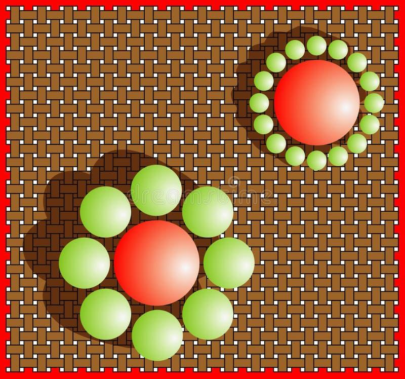 Illusion (Größenvorstellung). vektor abbildung