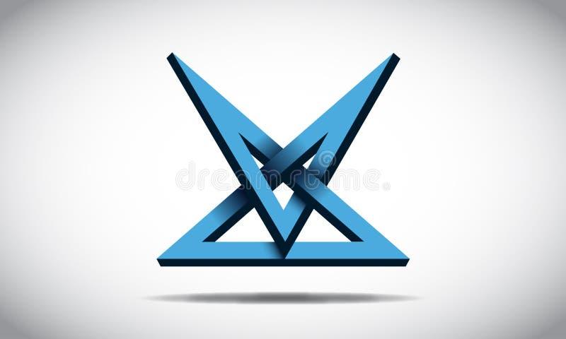 Illusion Logo Design stock illustration