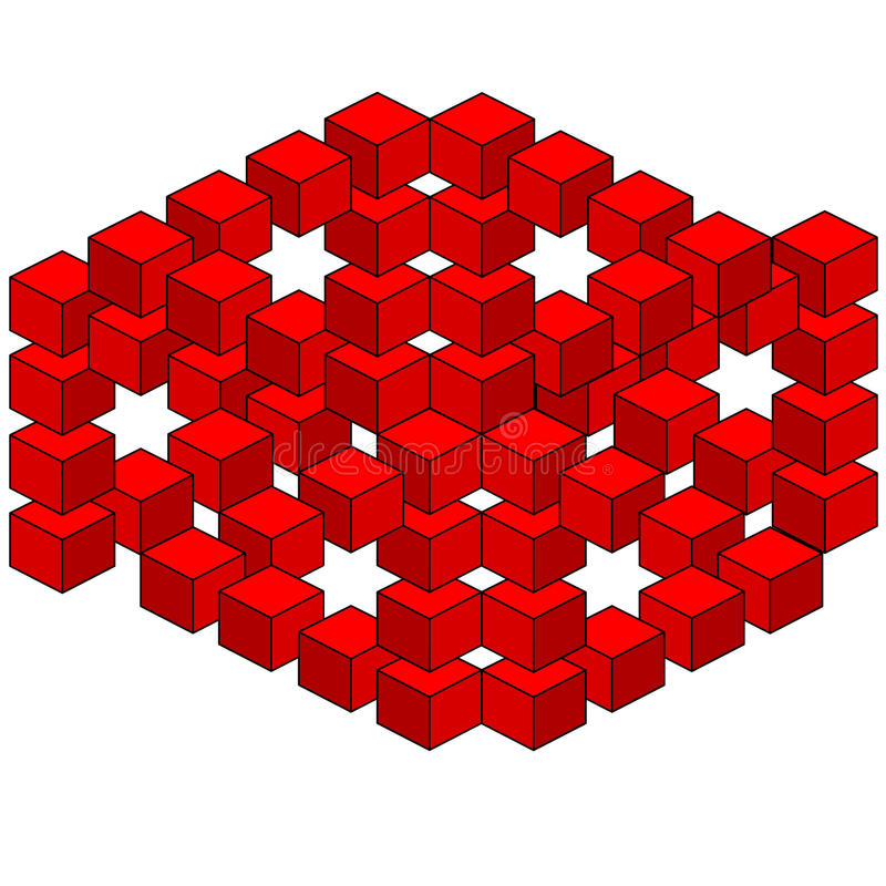 Illusion optique abstraite illustration stock