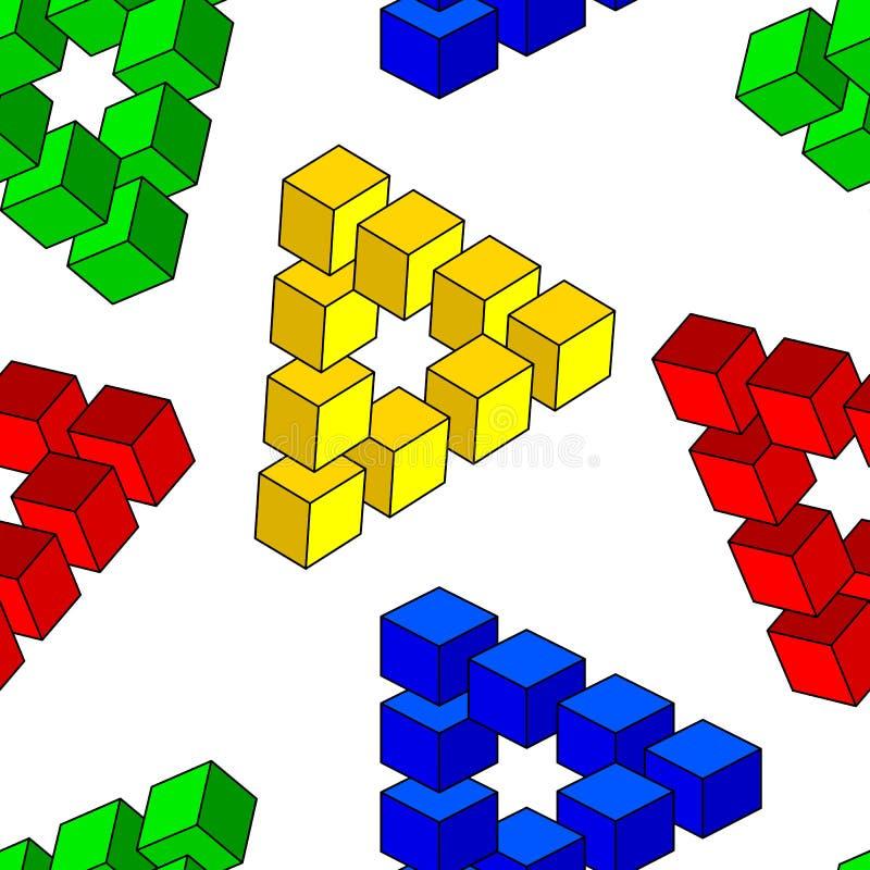 Illusion optique abstraite illustration libre de droits