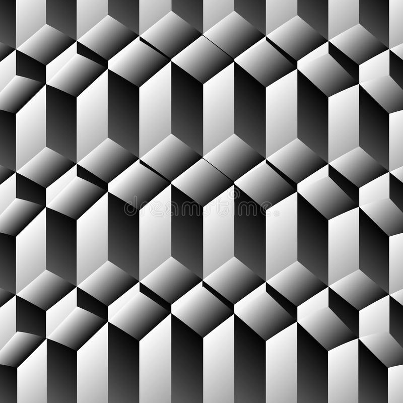 Illusion optique de rangées de cubes illustration stock