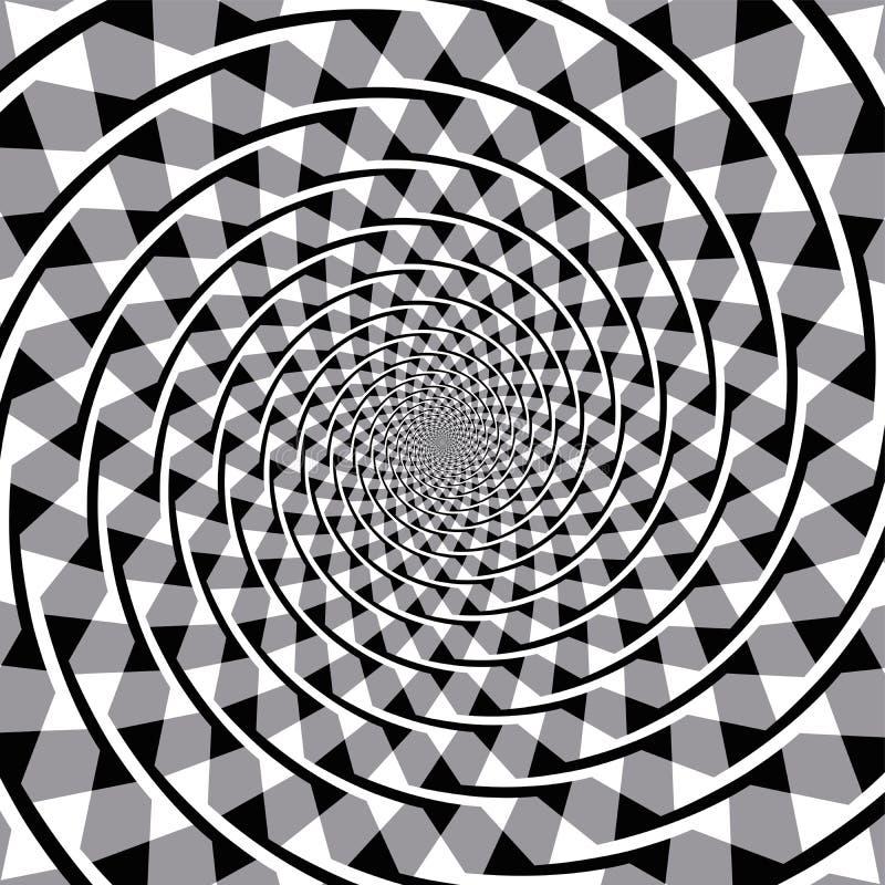 Illusion optique en spirale de Fraser illustration de vecteur