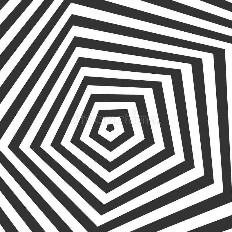 Illusion optique noire et blanche illustration de vecteur