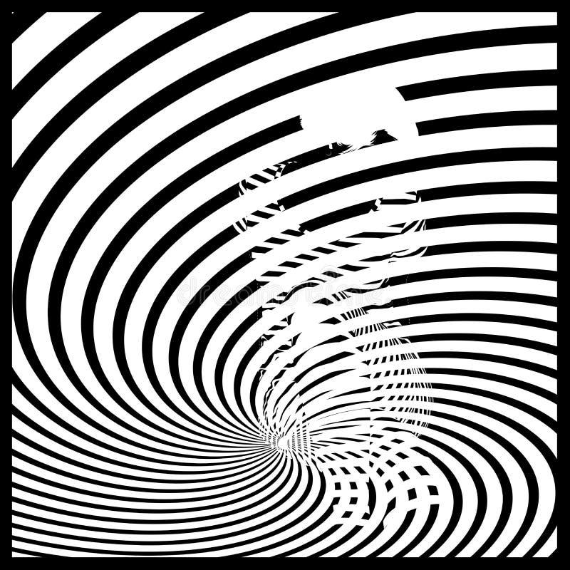 Illusion optique op d'art illustration libre de droits