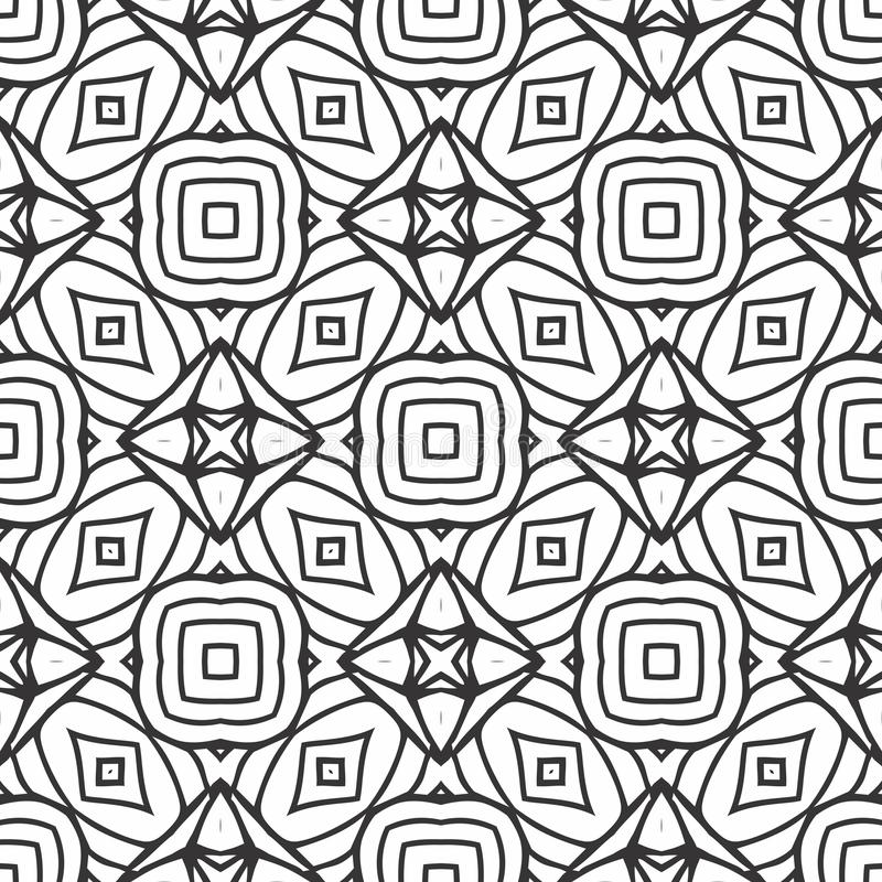 ILLUSION PATTERN BACKGROUND IN BLACK N WHITE LINED vector illustration