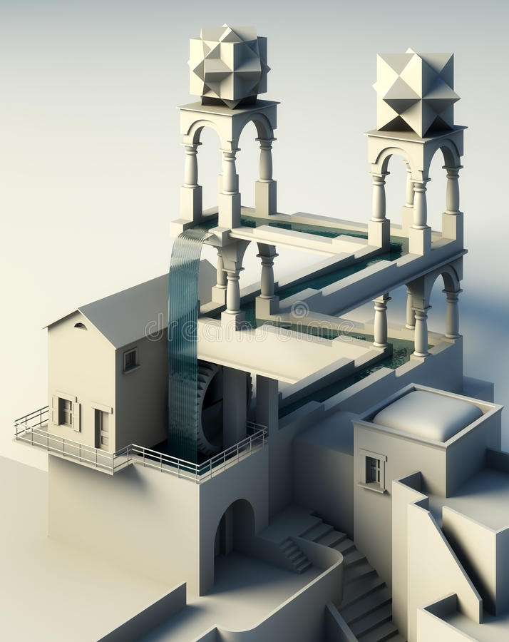 Illusion of reality. 3d hi definition rendering