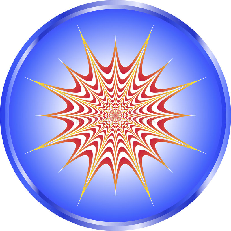 illusion som pulsetting vektor illustrationer