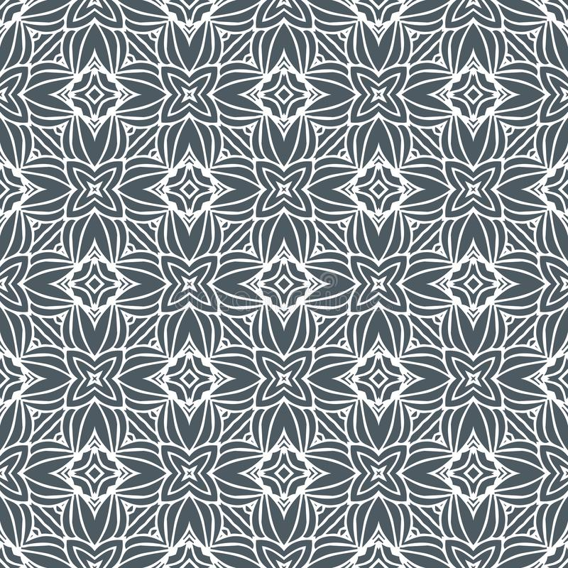 ILLUSION STARS PATTERN BACKGROUND IN BLACK N WHITE. Seamless background pattern for use in fabrics , web backgrounds , art , styling , prints , designing royalty free illustration