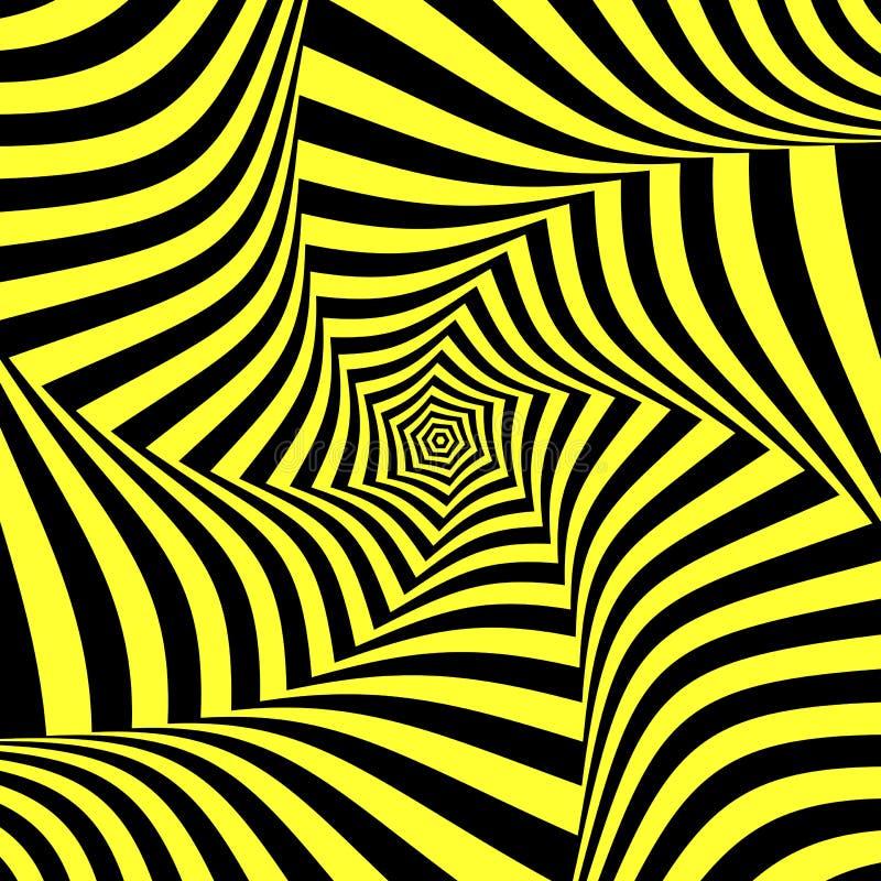 Illusion of torsion movement. Abstract design. vector illustration