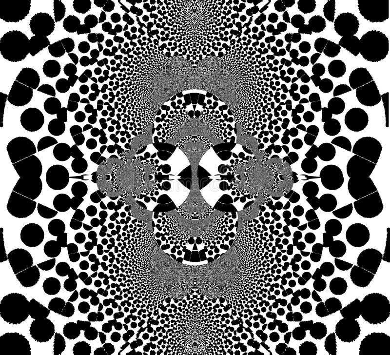 Illusione di inganno in bianco e nero Bande di vibrazione Visione ingannevole illustrazione di stock