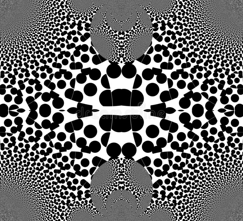 Illusione di inganno in bianco e nero Bande di vibrazione Visione ingannevole royalty illustrazione gratis
