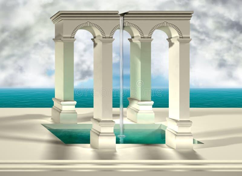 Illusione ottica illustrazione di stock