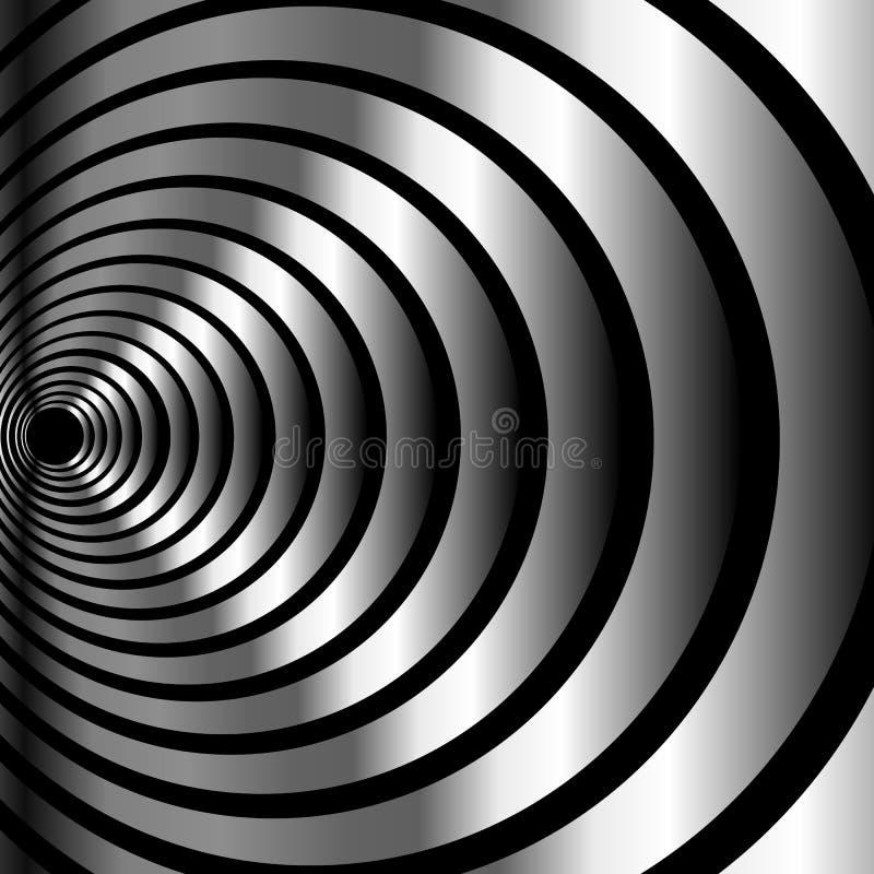 Illusione ottica metallica illustrazione vettoriale