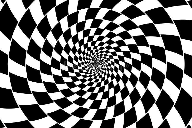 Illusione ottica - turbinio della scacchiera, royalty illustrazione gratis