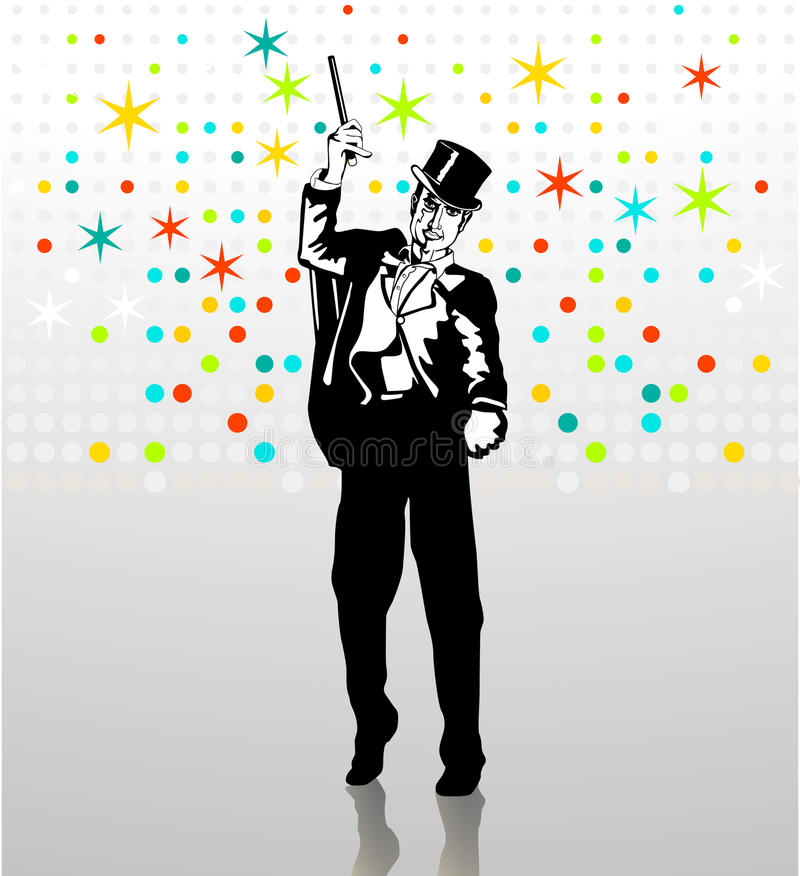 Download Illusionist stock vector. Image of wizard, star, entertainment - 13271303