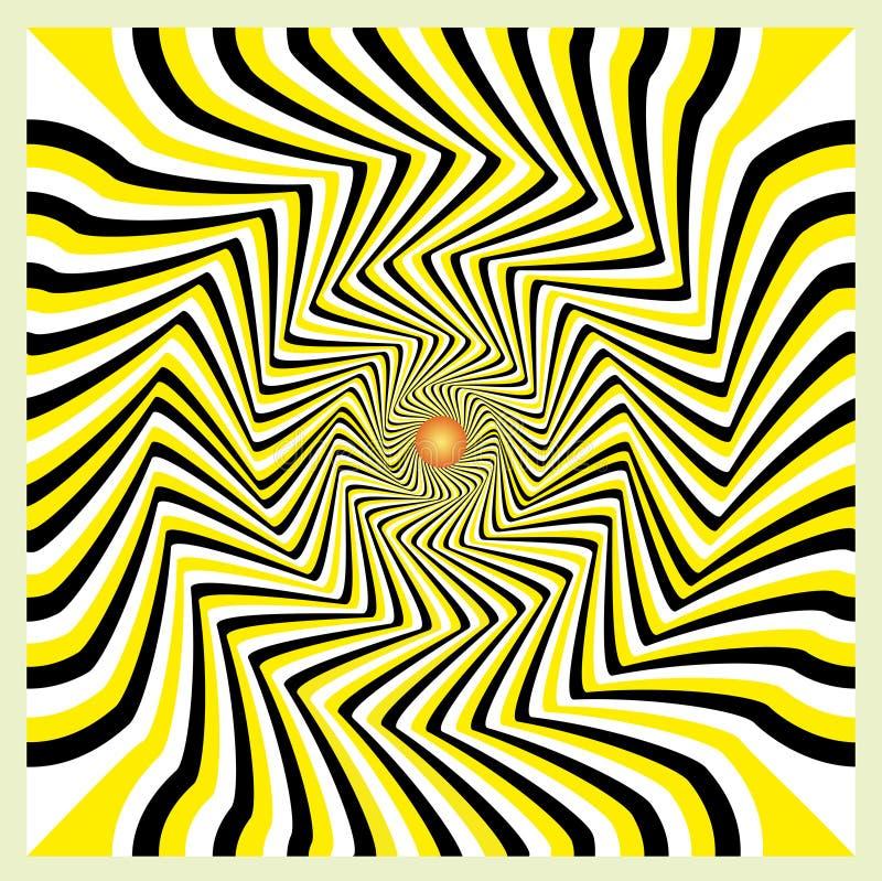 illusionrörelse vektor illustrationer