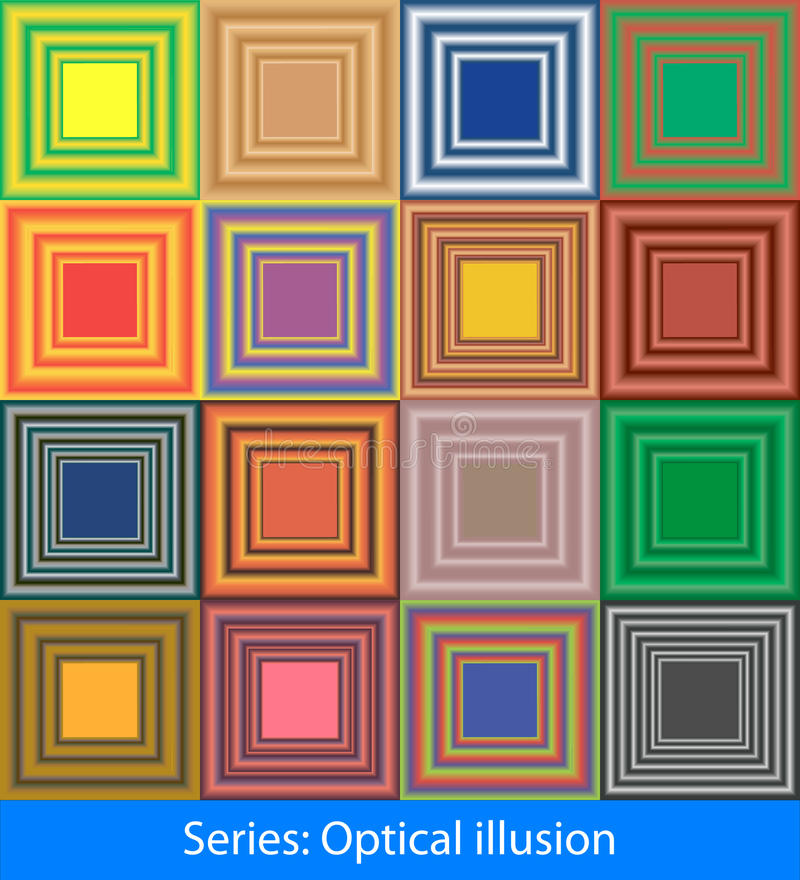 Illusions optiques : Gradient illustration stock