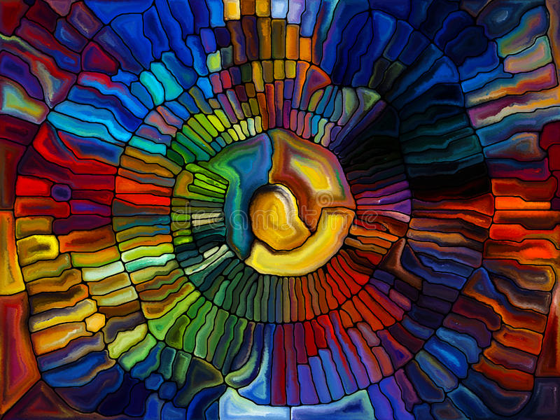 Illusions of Stained Glass royalty free illustration