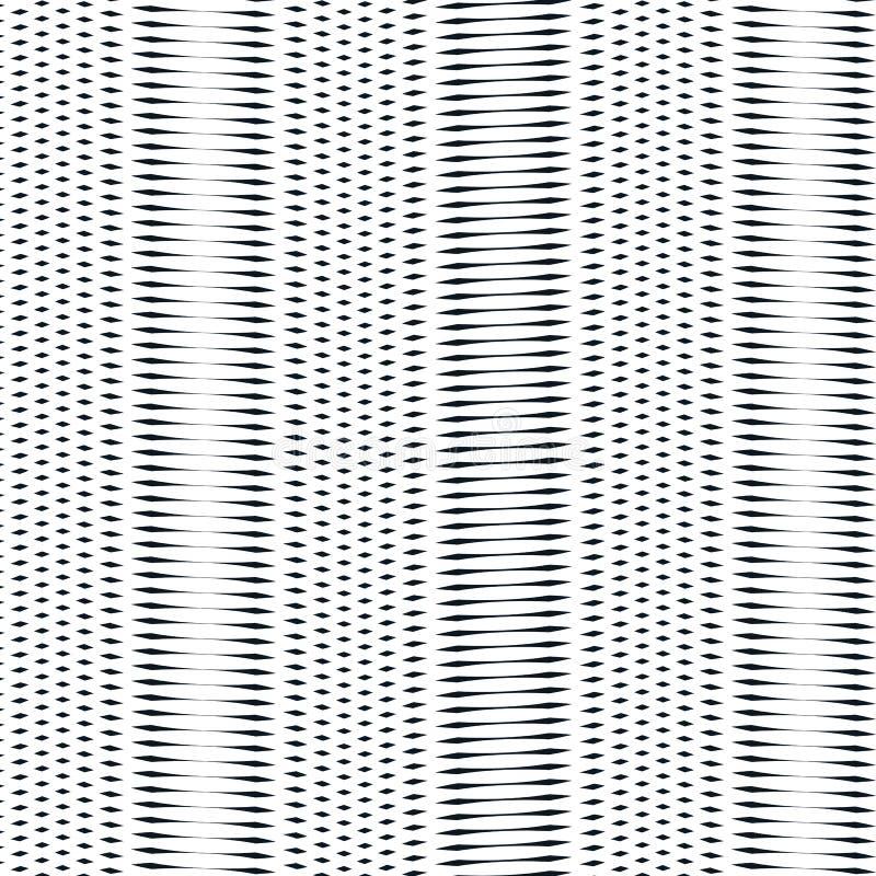 Illusive bakgrund med svarta kaotiska linjer, moirestil Contr vektor illustrationer