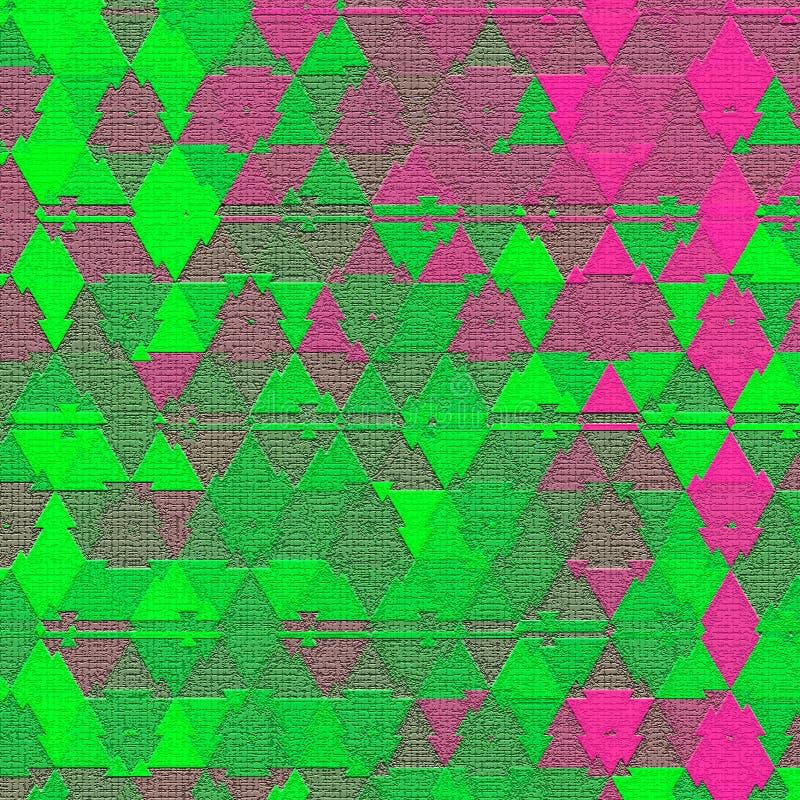 Illusive fortlöpande färgrik triangelmodelleffekt av kamouflage vektor illustrationer