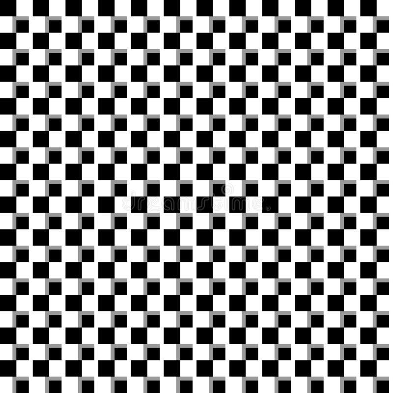Illusorischer einfarbiger Hintergrund mit Mosaik von Quadraten Seamlessl lizenzfreie abbildung