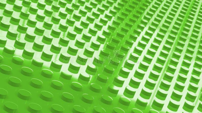 illusration del backgrounf 3d della superficie di verde dei mattoni del giocattolo della costruzione royalty illustrazione gratis