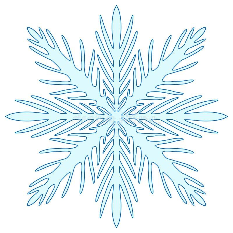 Illusration di Natale del fiocco di neve Stampa creativa del nuovo anno royalty illustrazione gratis