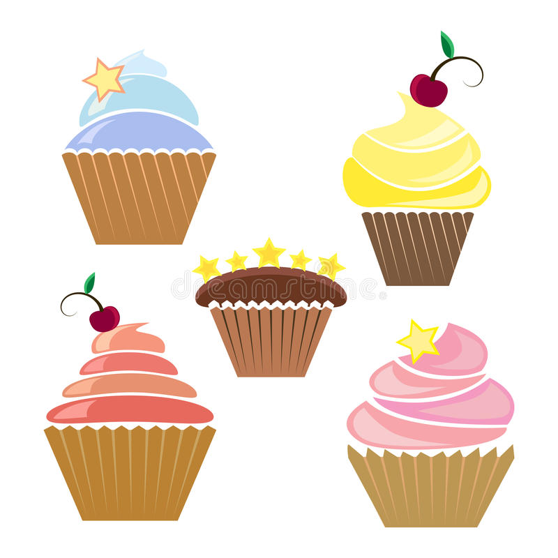 Free Illusration Of Cupcakes Stock Images - 28961614