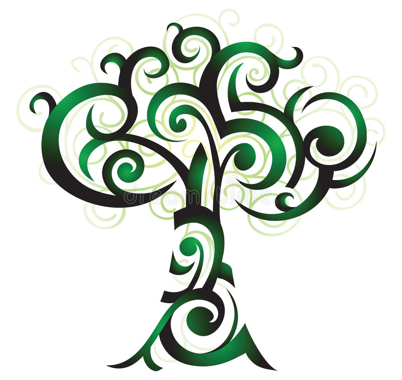 illusstration drzewo royalty ilustracja