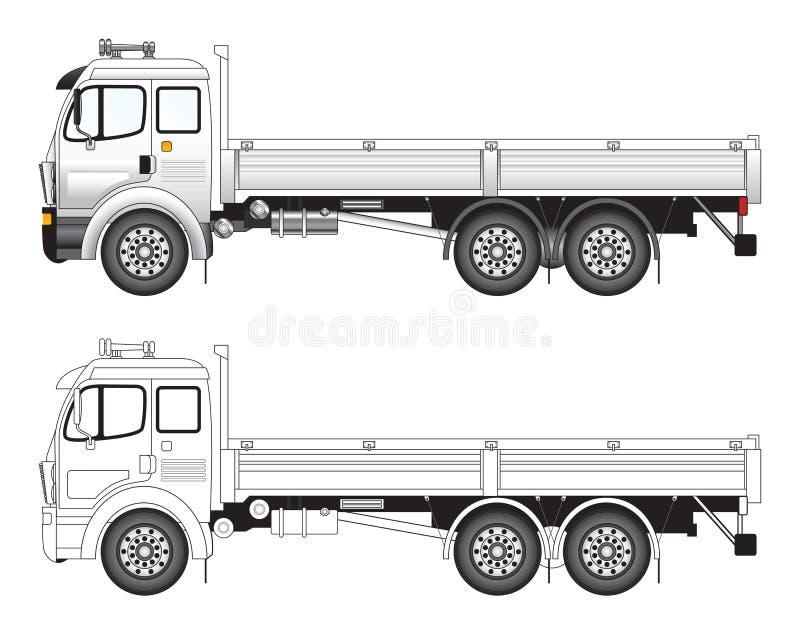 Illust Commercial De Vecteur De Camion Images stock