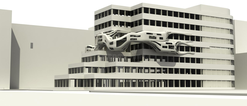 Illust futurista de la configuración ilustración del vector