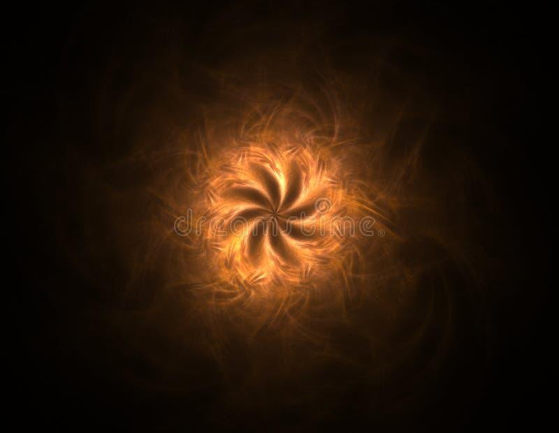 Illustartion του χρυσού ακτινοβολώντας κύκλου σκόνης αστεριών διανυσματική απεικόνιση