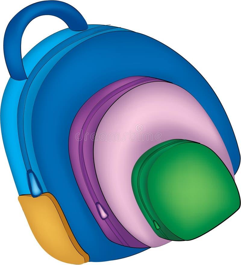 Illustartion do saco de escola ilustração stock