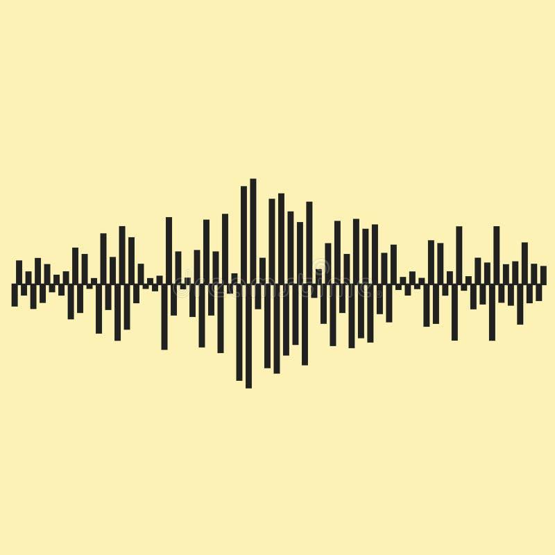Illustartion för solida vågor Inklusive mapp för vektor för musikbakgrundsEPS 10 royaltyfri illustrationer