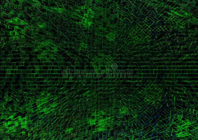 Illustartion technologique vert de fond de texture illustration libre de droits