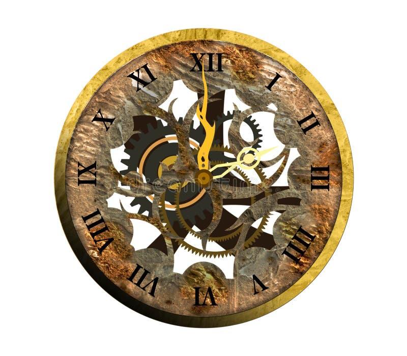 Uhr römische zahlen  Alte Uhr Mit Römischen Zahlen. Lizenzfreie Stockbilder - Bild ...
