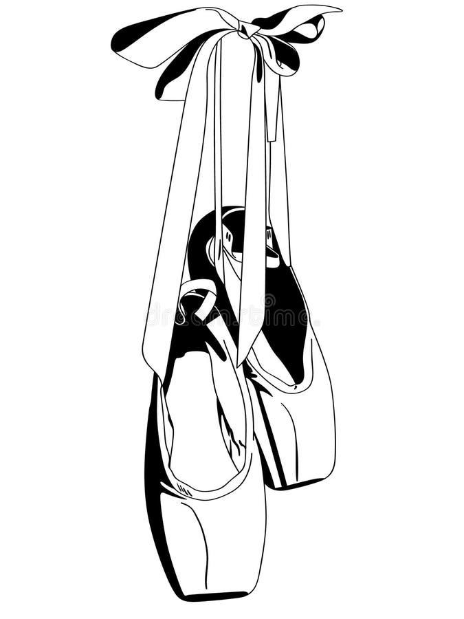 Illustation das sapatas do pointe do bailado por crafteroks ilustração do vetor