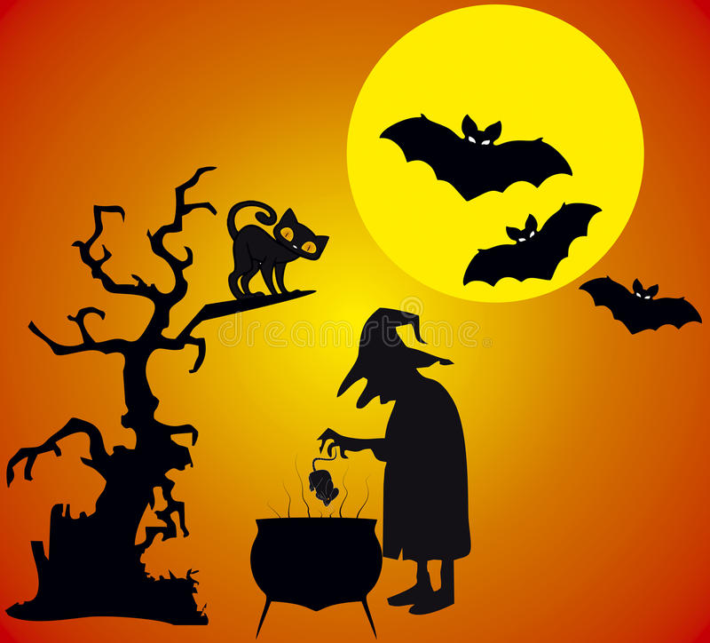 Illustation di Halloween fotografia stock libera da diritti