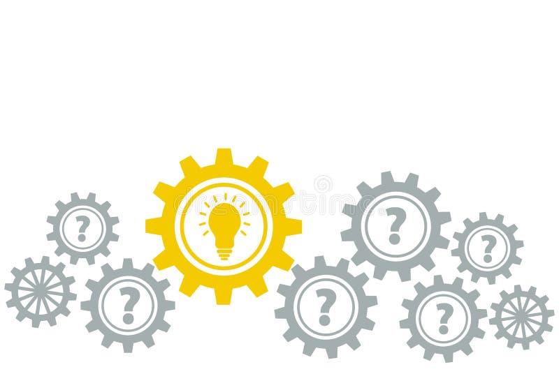 Illustr común gris y amarillo de la idea de los gráficos de la frontera de los engranajes, del vector libre illustration