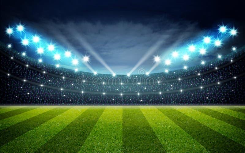 Illustraion av fotbollstadion royaltyfri illustrationer
