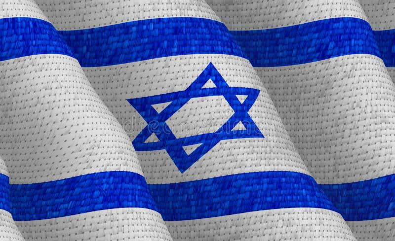 Illustraion d'un drapeau d'Israélien de vol illustration de vecteur