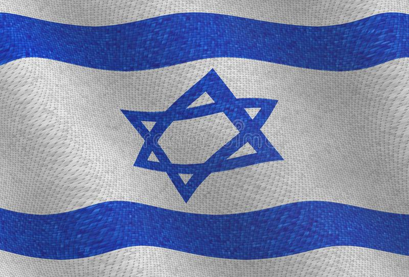 Illustraion d'un drapeau d'Israélien de vol illustration de vecteur