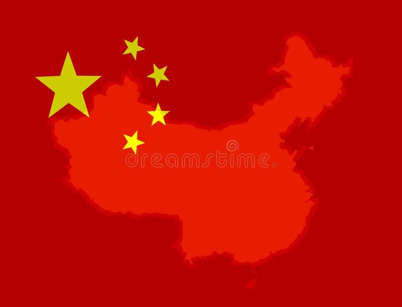 Illustraion de una bandera china ilustración del vector