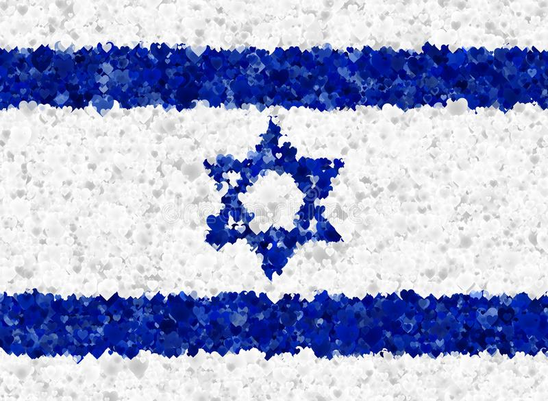 Illustraion de una bandera israelí libre illustration