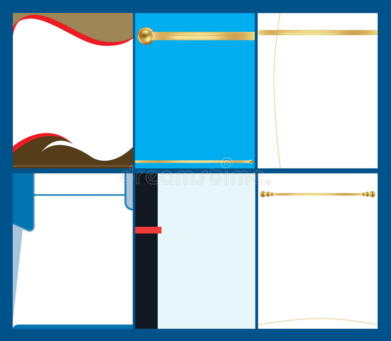 Illustraion del cuscinetto della carta intestata illustrazione vettoriale