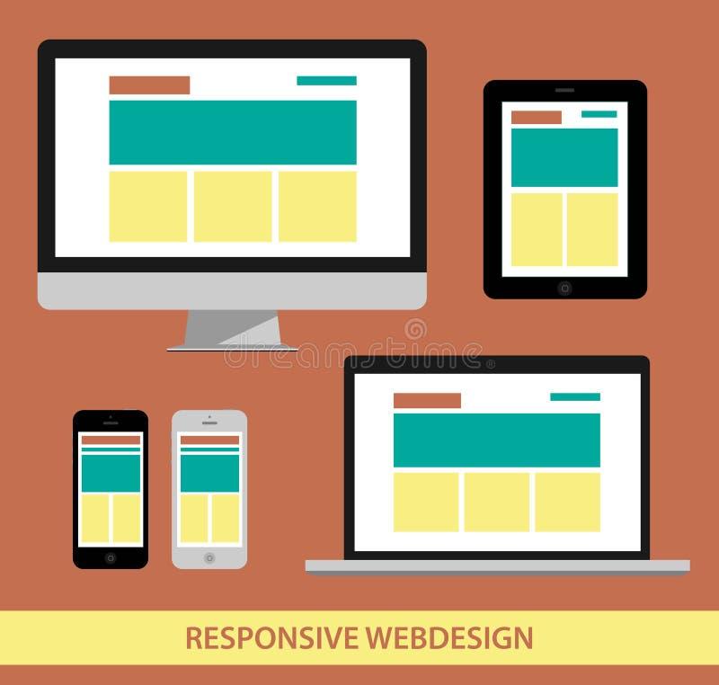 Illustrarion responsivo del diseño web ilustración del vector