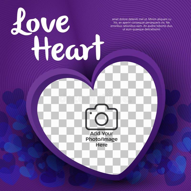 Illustratör för förälskelsehjärtavektor vektor illustrationer
