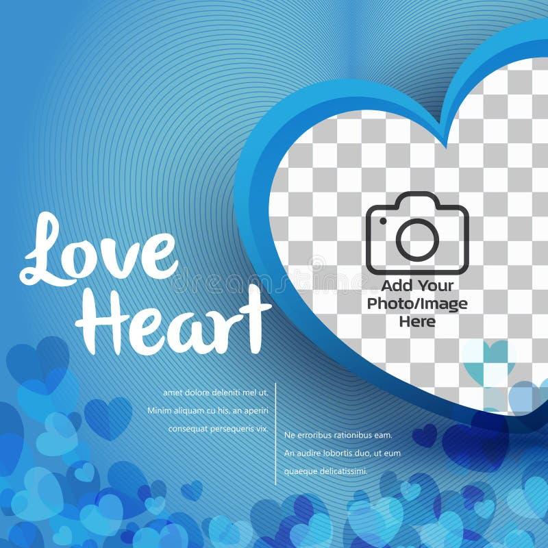 Illustratör för förälskelsehjärtavektor stock illustrationer